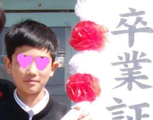 次男くん卒業式